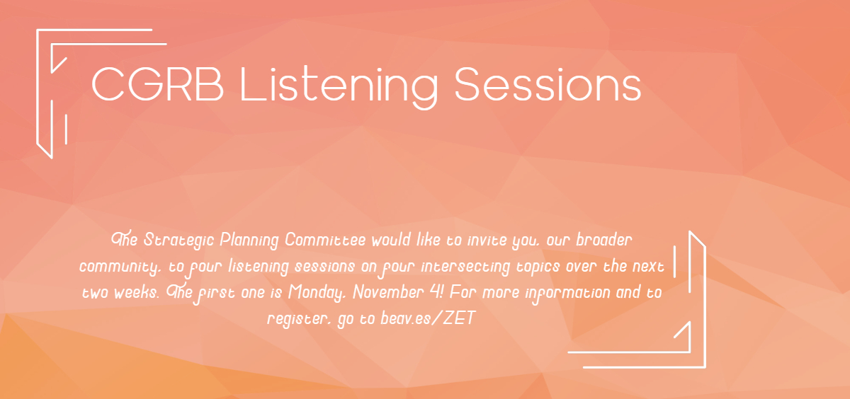 Banner for Listening Sessions