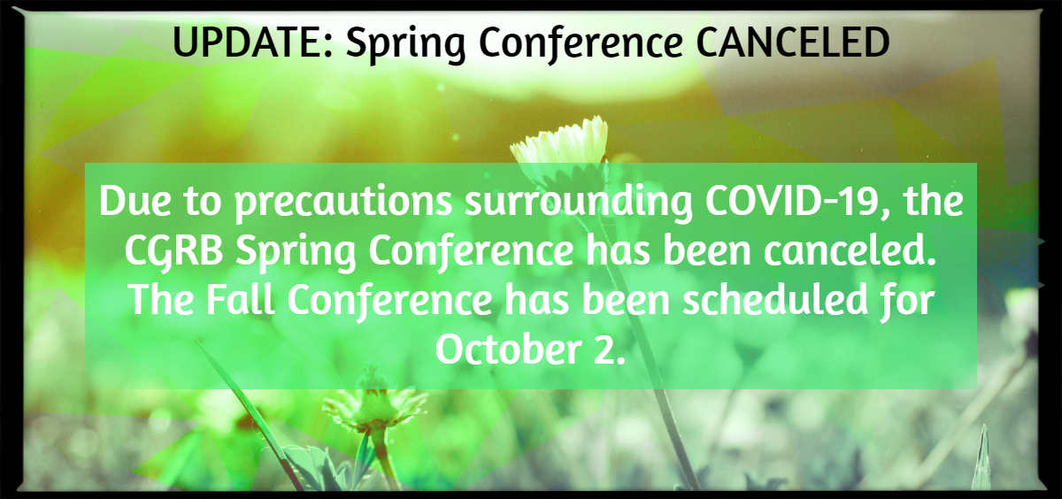 Spring Conference Cancellation